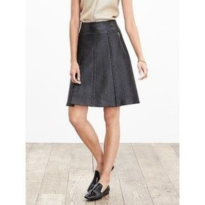 Banana Republic Black Coated Tweed Mini Skirt Size